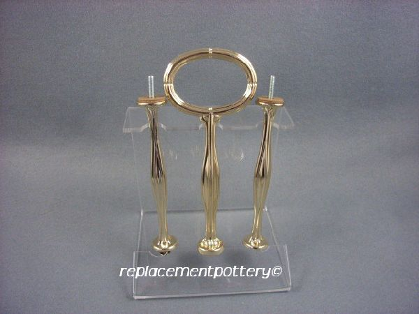 Gilt Cake Stand / Plate Centre Handle / 3 Tier-Style A