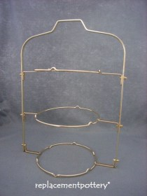 3 Tier Folding Cake Stand- Brass Finish-Large Size