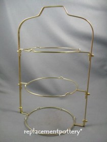 3 Tier Folding Cake Stand- Brass Finish
